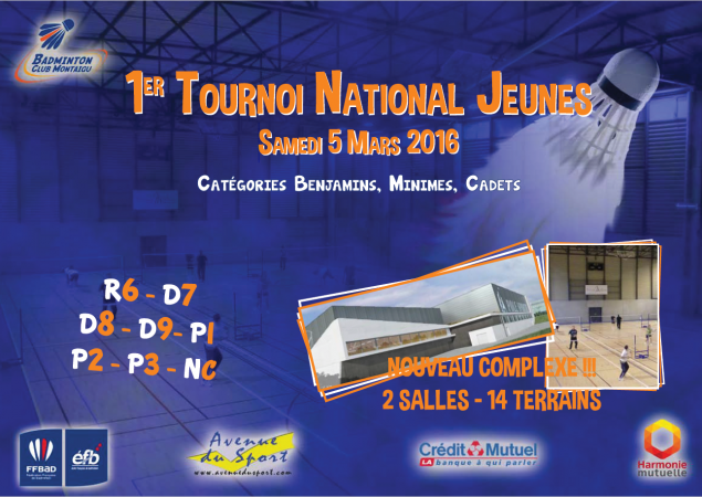1er Tournoi National Simple Jeunes